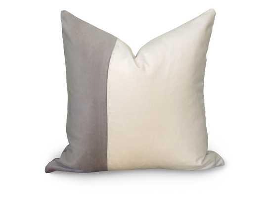 """Velvet Colorblock Pillow Cover-20"""" x 20""""-Insert not included - Willa Skye"""