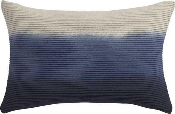 "Blue azure pillow - 18"" x 12"" - CB2"