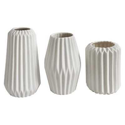 Home Port Aven Vases set of 3 - White - Target