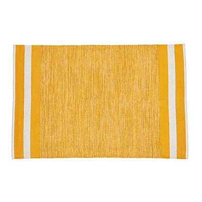 """5"""" x 8""""-Defined Lines Rug (Yellow) - Land of Nod"""