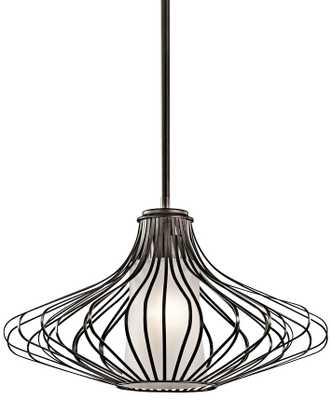 "Kichler Geometry 18"" Wide Olde Bronze Pendant - Lamps Plus"