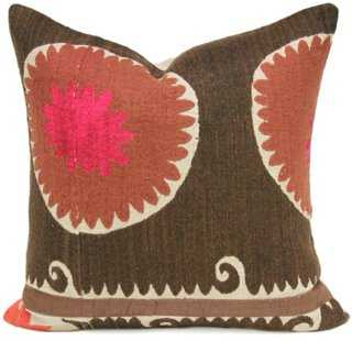 Royal Suzani Coral Pillow - One Kings Lane