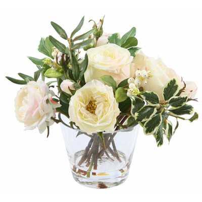 Rose in Glass Vase - Wayfair
