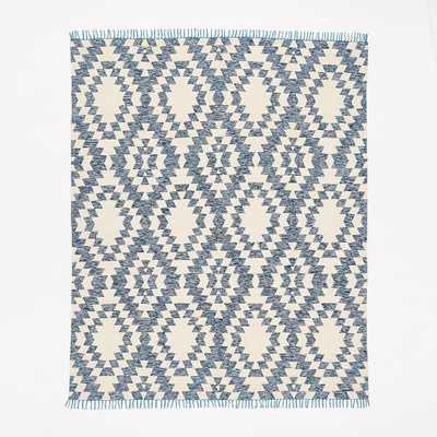 Palmette Chenille Wool Kilim Rug - 8' x 10' - West Elm