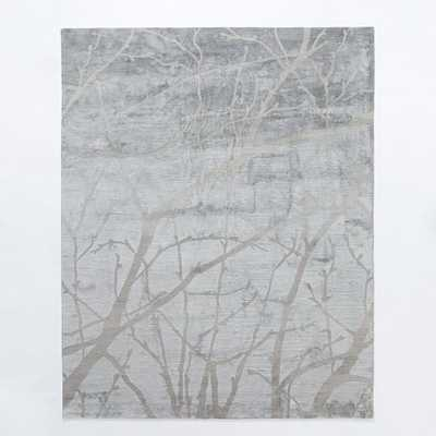 Winter Branches Rug 6'X9' - Feather Gray - West Elm