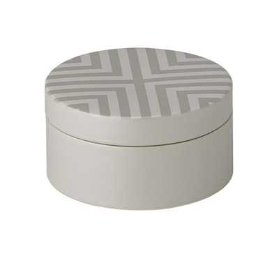Chevron Round Storage Box - Wayfair