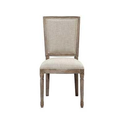 ADELE DINING SIDE CHAIR IN LINEN AND WEATHERED - Arhaus