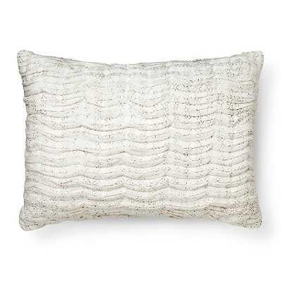 """Neutral Printed Texture Oblong Toss Pillow - Neutral - 20""""L x 14""""W - Polyester Insert - Target"""