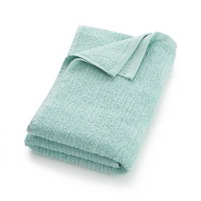 Ribbed Seafoam Bath Towel - Crate and Barrel