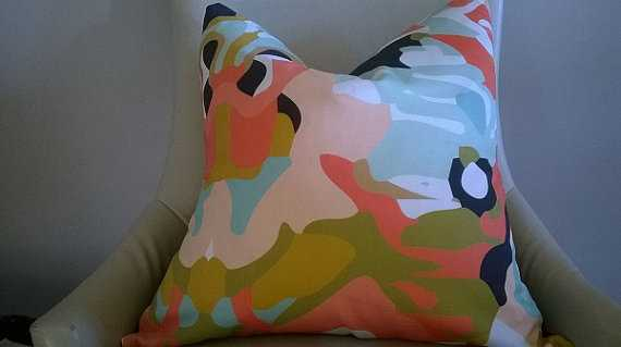 Designer Fabric pillow cover - Etsy