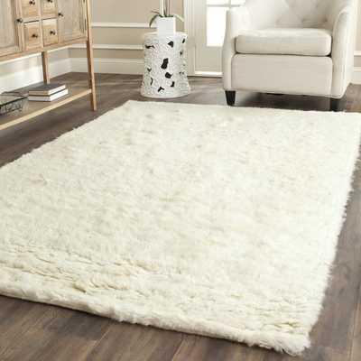 Safavieh Handmade Flokati Ivory Wool Rug (6' x 9') - Overstock