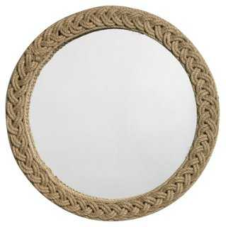 Braided Jute Accent Mirror, Natural - One Kings Lane