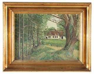 Foret de Russy 20x16 framed - One Kings Lane
