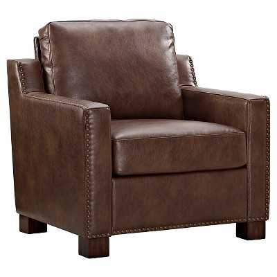 "Club Chair with Nailheads - Camel - The Industrial Shopâ""¢ - Target"