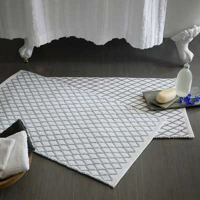 Diamond Flat Weave Bath Mat - West Elm