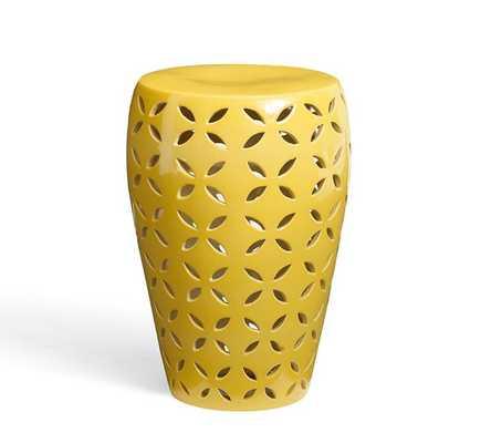 Kiley Ceramic Stool - Pottery Barn