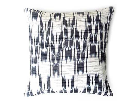 Guatemalan Ikat Stripe Pillow Cover - Black - Willa Skye