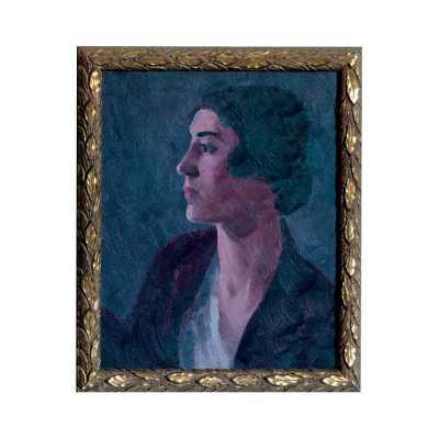 """VINTAGE LADY BRUNETTE - 22"""" H x 16"""" W - Framed - Dwell Studio"""