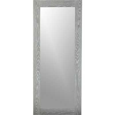 "Hanging-leaning grey 32""x76"" floor mirror - CB2"