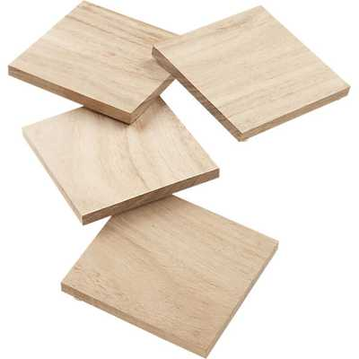 Set of 4 chop coasters - CB2