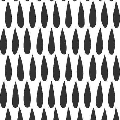 SISSY & MARLEY DROPS - CHARCOAL - Walnut Wallpaper