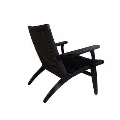 CH25 Lounge Chair - Black - France & Son