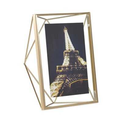 Umbra® Prisma 5-Inch x 7-Inch Photo Frame in Matte Brass - Bed Bath & Beyond