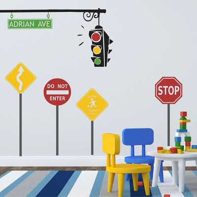 Traffic Set Wall Decal - Wayfair