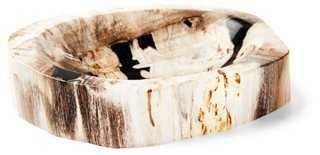 Small Petrified-Wood Bowl- Natural - One Kings Lane