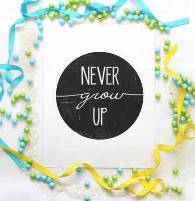 Never Grow Up | Peter Pan Art Print - Etsy