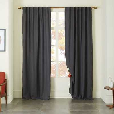 "Belgian Linen Curtain - Slate- 108""l x 48""w. - West Elm"
