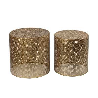 Goldtone 2-piece Accent Tables - Overstock