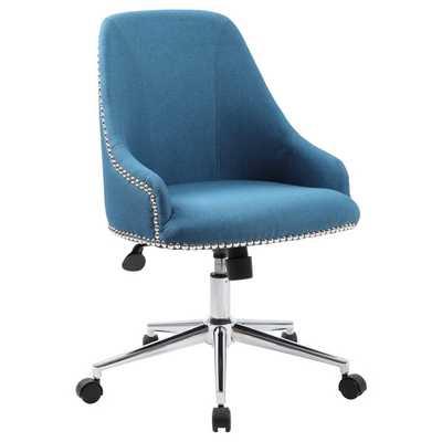 Boss Carnegie Desk Chair - Peacock blue - Overstock
