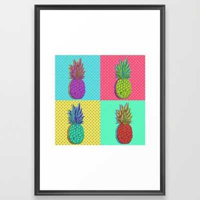 Pineapple Pop Art - Framed - Society6