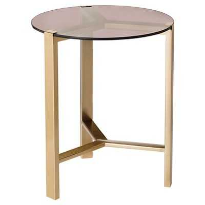 Gold Accent Table with Glass Top - Target