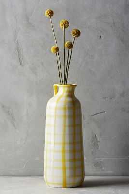 Milos Vase - Yellow, Medium - Anthropologie