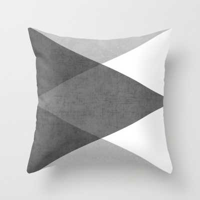 "black and white triangles-20"" x 20""-Insert included - Society6"