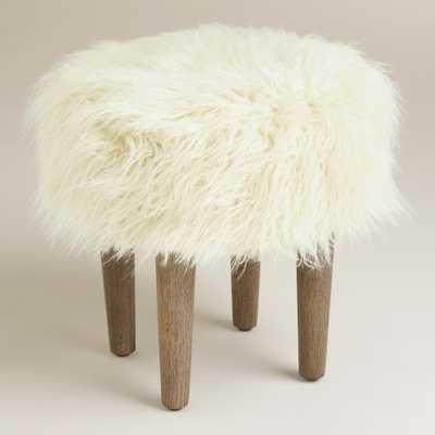 Natural Flokati Stool - World Market/Cost Plus