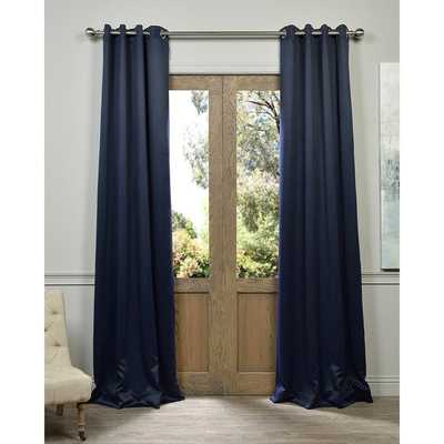 "EFF Eclipse Grommet Blue Thermal Blackout Curtain Panel Pair - 84""L - Overstock"