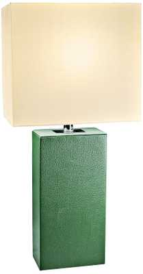 Lowden Green Leather Wrapped Table Lamp - Lamps Plus