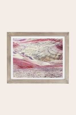 """Christina Hicks Painted Hills Art Print - 30"""" x 40"""" - Grey Barnwood frame - With mat - Urban Outfitters"""