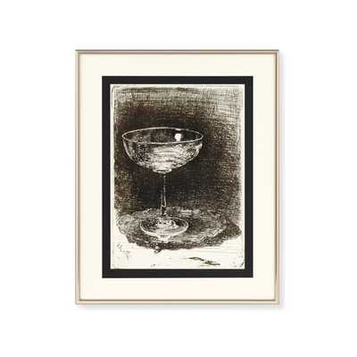 NON-RETURNABLE // Stemware Study Wall Art - Williams Sonoma Home