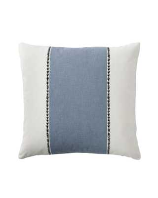 "Racing Stripe Pillow Covers - Chambray-20""SQ-Insert sold separately - Serena and Lily"