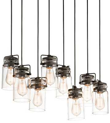Kichler Brinley Old Bronze 8-Light Pendant - Lamps Plus