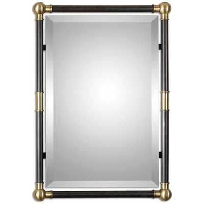 Uttermost Rondure Bronze Metal Wall Mirror - benjaminrugsandfurniture.com