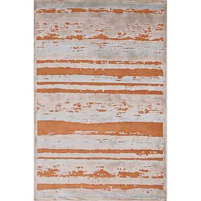 Machine Made Stripe Pattern Area Rug - Overstock
