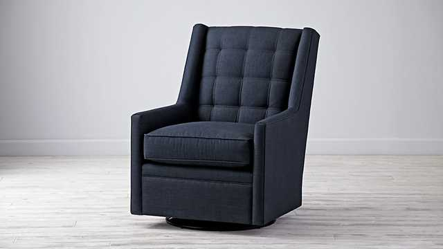 Cosgrove Swivel Glider-Blueberry - Land of Nod