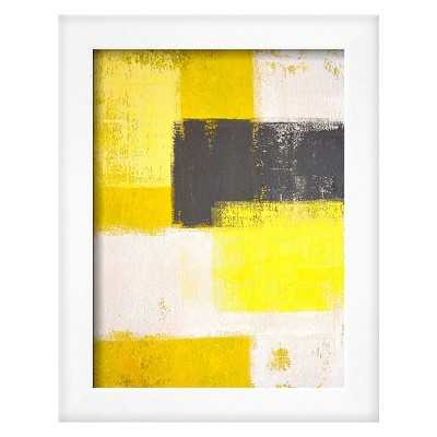 Grey And Yellow Abstract Art P - Target