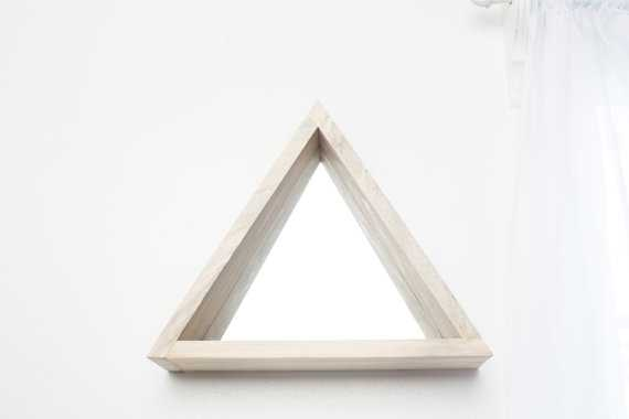 Geometric Triangle Mirror Shelf with Tapered Sides - Etsy