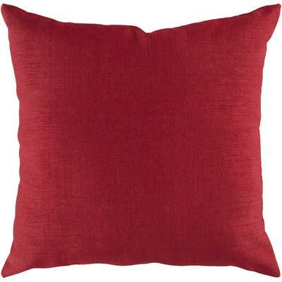 "Stunning Solid Pillow Cover - 18""SQ - Redwood - Insert included - Wayfair"